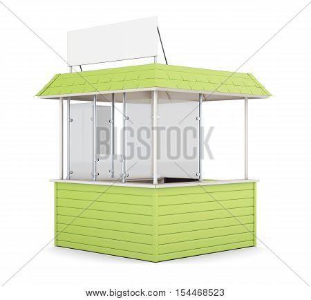 Green promo counter isolated on white. 3d rendering.