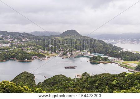 Famous Kujuku Islands Overlook In Sasebo, Kyushu