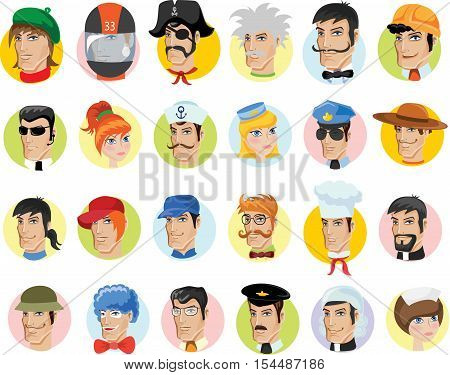 Cartoon vector characters of different professions ,illustration picture