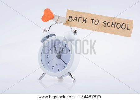 The  Title Back To School And An Alarm Clock