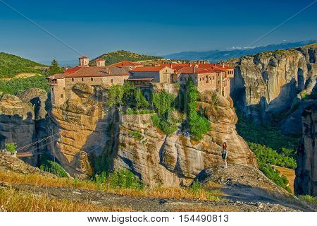 Meteora Mountain Monastery Complex in Greece
