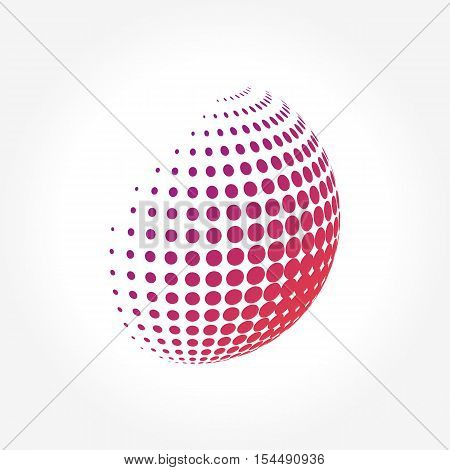 Creative abstract, vibrant and colorful icon Sphere Globe