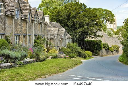 A picturesque Cotswold village in rural England