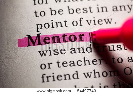 Fake Dictionary Dictionary definition of the word mentor.