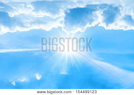 Big Bright Sun With Sunrays