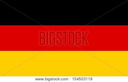 flat germany flag in the colors black red and gold
