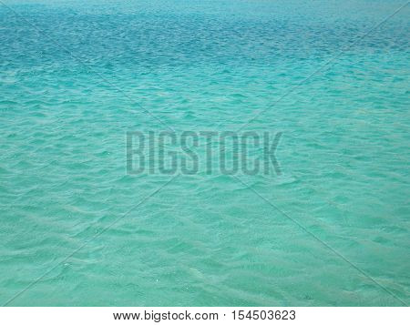 The sea water is beautiful, soothing background
