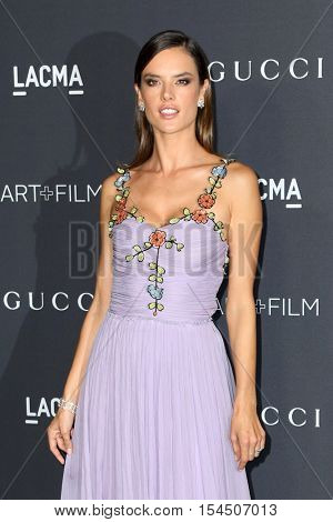 LOS ANGELES - OCT 29:  Alessandra Ambrosio at the 2016 LACMA Art + Film Gala at Los Angeels Country Museum of Art on October 29, 2016 in Los Angeles, CA