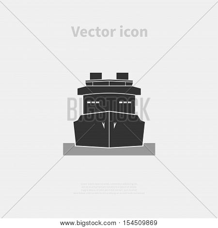 Ship icon isolated on background. Vector illustration.