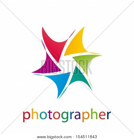 Vector abstract sun and aperture photographic illustration