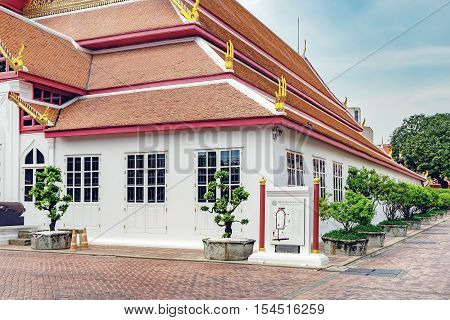Bangkok, Thailand - December 8, 2015: The first building in the museum compound contains the Thai History Gallery which outlines the history of the Thai people.