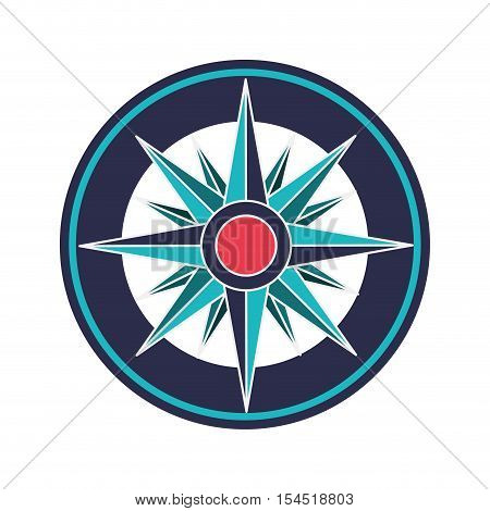 vintage compass wind rose icon over white background. navigation and travelling theme. colorful design vector illustration