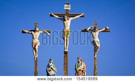 An image of a holy crucifixion scene