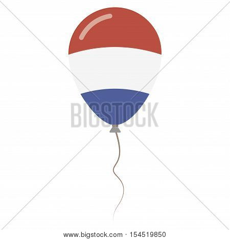 Bonaire Sint Eustatius and Saba national colors isolated balloon on white background. Independence day patriotic poster. Flat style National day vector illustration. poster