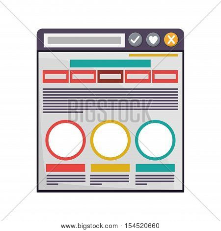 internet browse window icon. colorful design. vector illustration