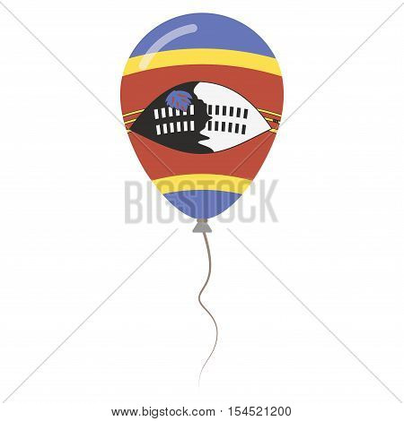 Kingdom Of Swaziland National Colors Isolated Balloon On White Background. Independence Day Patrioti
