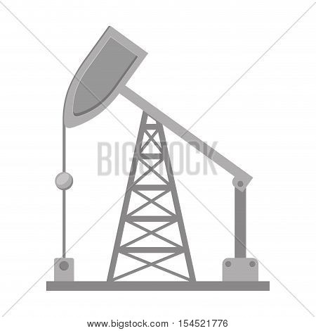 oil rig tower factory building icon over white background. vector illustration