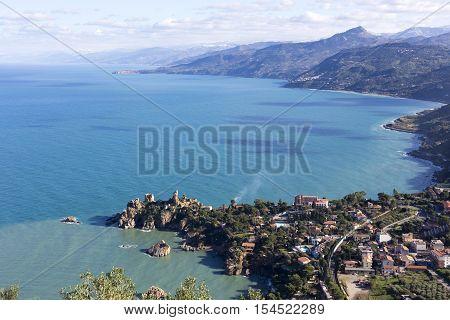 Coastline Of Sicily In Italy