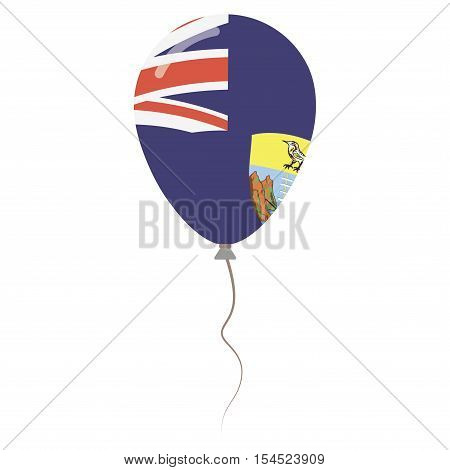 Saint Helena, Ascension And Tristan Da Cunha National Colors Isolated Balloon On White Background. I