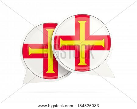 Flag Of Guernsey, Round Chat Icon