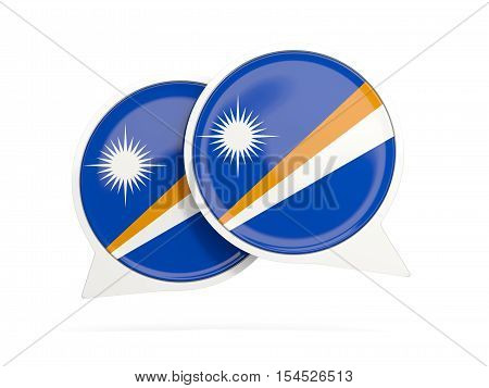 Flag Of Marshall Islands, Round Chat Icon