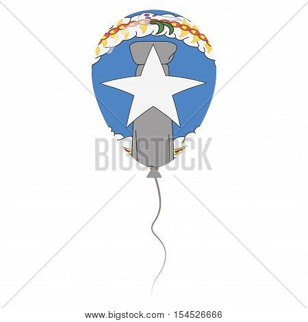 Commonwealth Of The Northern Mariana Islands National Colors Isolated Balloon On White Background. I