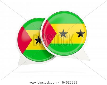 Flag Of Sao Tome And Principe, Round Chat Icon