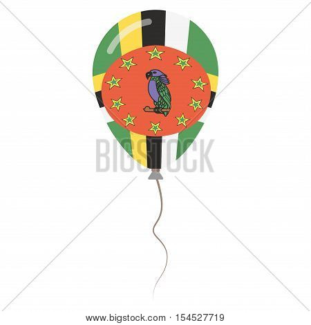 Commonwealth Of Dominica National Colors Isolated Balloon On White Background. Independence Day Patr