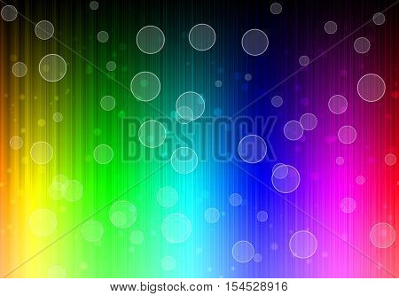 Beautiful Bokeh on Bright Neon Lines Background. Abstract Colorful Neon Pattern. Colorful Neon Pattern. Striped Neon Background.