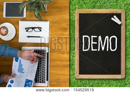 DEMO (Demo Preview Ideal) analysis, business, businessman ,attitude belief