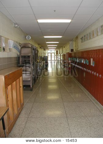 Elementary School Hallway