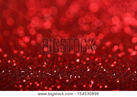 Defocused abstract red lights background, Christmas background.