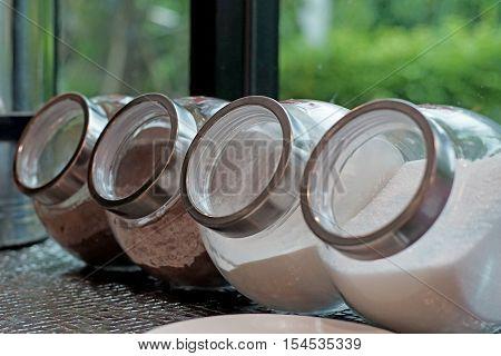Coffee Creamer Sugar In Jar