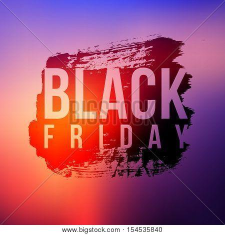 Black Friday sale grunge style vector illustration