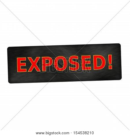 exposed red wording on black wood background