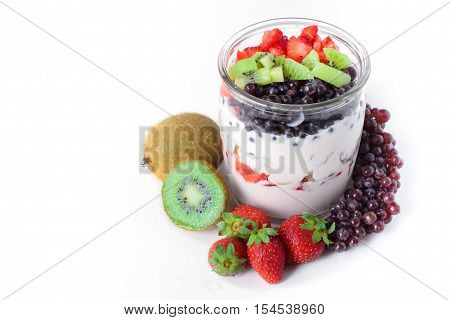 Fruits in Yogurt Healthy Food Dairy Food Natural Food Diet Food Clean Food
