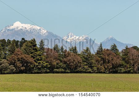 Kaikoura ranges in Southern Alps in New Zealand in springtime