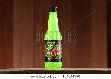 Kuala Lumpur, Malaysia 26th Oct 2016,  Mountain Dew is a carbonated soft drink brand, introduced in 1940, produced and owned by PepsiCo.