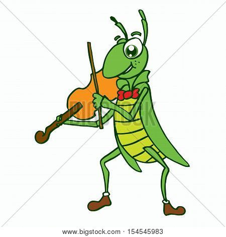 Insects vector with violin t-shirt design collection stock
