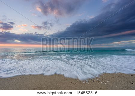 sunest waves  Kathisma Lefkada Greece