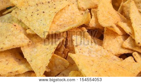 Fragrant Mexican Tortillas Chips With A Lot Of Salt