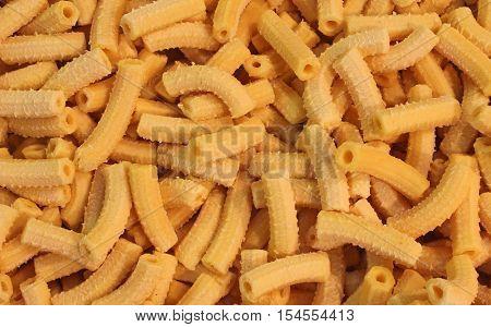 Yellow Homemade Macaroni Made With Fresh Eggs