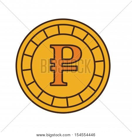 rouble coin isolated icon vector illustration design