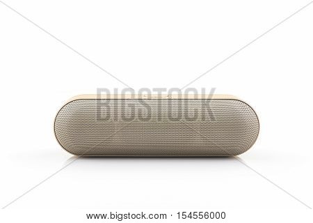 Wireless speaker for mobile phone Speaker for smartphone on white background.