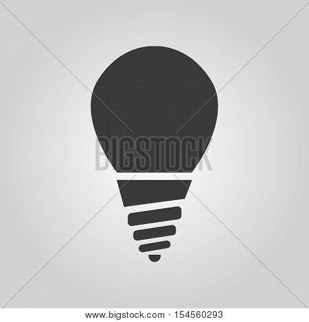 The incandescent lamp icon. Lamp and bulb, lightbulb, filament lamp, glow-lamp, light bulb symbol.