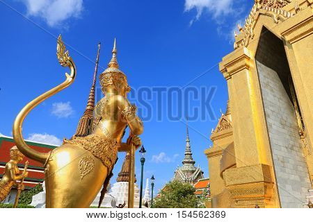 Bangkok, Thailand -oct 23 : Wat Phra Kaew On Oct 24 2016 In Bangkok, Thailand