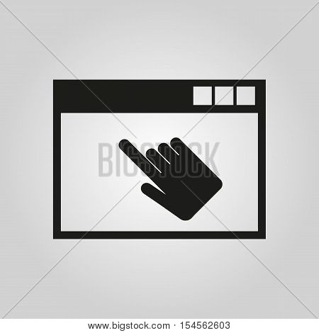 The website icon. WWW and browser, development, seo symbol. UI. Web. Logo. Sign. Flat design. App. Stock vector