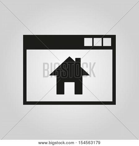 Homepage icon. vector design. Home symbol. web. graphic.