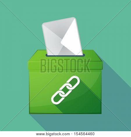 Long Shadow Ballot Box With A Chain
