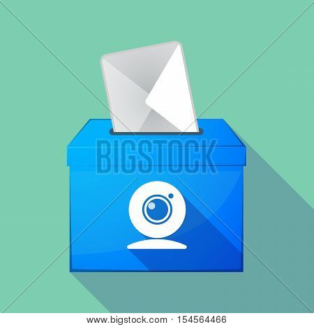 Long Shadow Ballot Box With A Web Cam